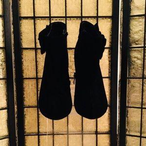 Delicacy Black Velvet Stiletto Booties